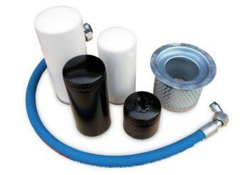 Filtry i separatory oleju sprężarki śrubowej