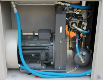 Sprężarka HGS silnik główny, moduł śrubowy