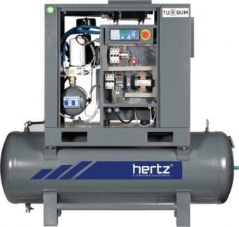 Sprężarki śrubowe na zbiorniku HGS 2-15 | 2.2 kW-15 kW |