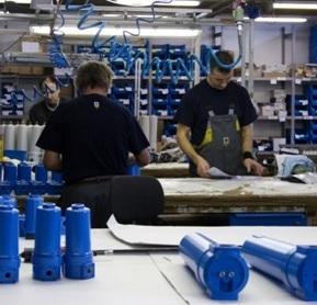 Filtry sprężonego powietrza AF - produkcja