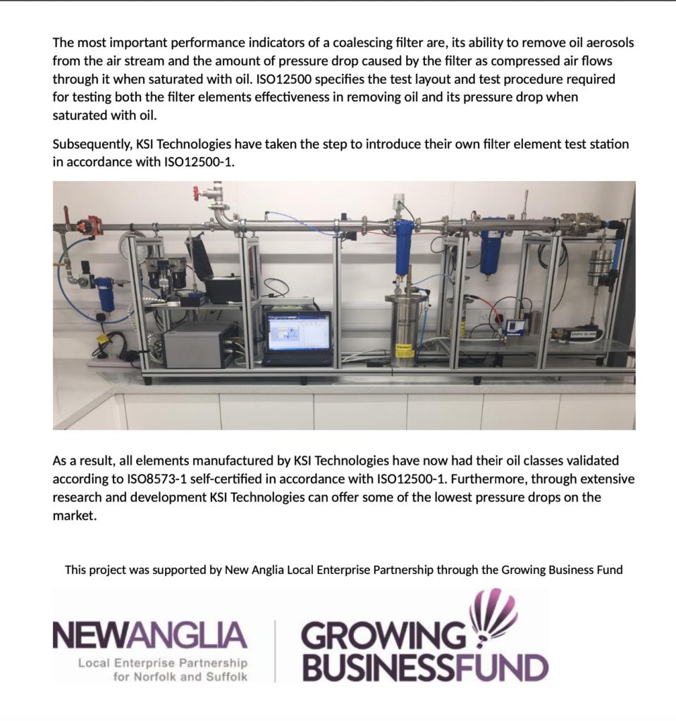 Stacja testowa filtrów sprężonego powietrza zgodnie z ISO12500-1