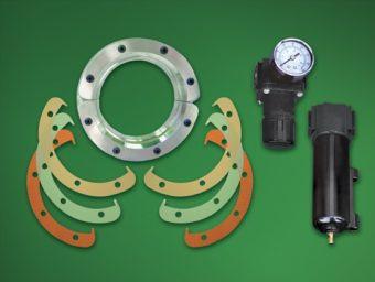 Zestaw dyszy pierścieniowej Standard obejmuje komplet podkładek, separator-filtr i regulator ciśnienia (ze złączką).