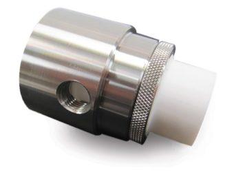 Wkładka teflonowa została użyta w regulowanych wzmacniaczach przepływu powietrza ze stali nierdzewnej, aby pomóc w zassaniu kleistego materiału z procesu i zapobiec jego osadzaniu na wzmacniaczu