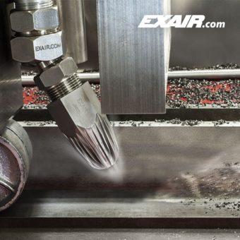Wszystkie dysze powietrzne firmy EXAIR posiadają standardowe podstawy sześciokątne w celu ułatwienia ich montażu za pomocą klucza nasadowego.