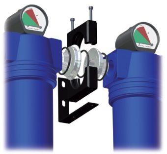 AK zestaw montażowy do filtrów sprężonego powietrza
