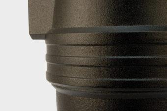Obudowa filtra wykonana jest z aluminium