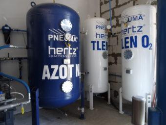 Zbiorniki sprężonego azotu 40 bar