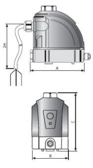 Elektroniczny spust kondensatu ECD wymiary
