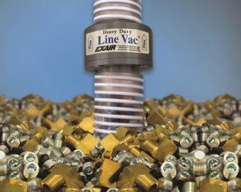Przenośnik Line Vac do dużych obciążeń jest  najwydajniejszym przenośnikiem firmy EXAIR, transportującym duże ilości materiału i odpornym na zużycie.