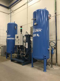System wytwarzania azotu metodą PSA