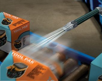 Duże dysze powietrzne Super są idealne do wypychania ciężkich przedmiotów z przenośnika.