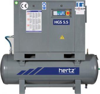 Sprężarki śrubowe napęd bezpośredni z falownikiem na zbiorniku FRECON PLUS 5 kW-15 kW