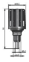 Spust kondensatu AOK 16B wymiary