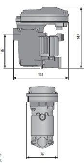Spust kondensatu EMD 12 wymiary