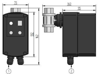 Spust kondensatu TEC 44 wymiary