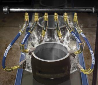 Elastyczne regulowane węże są idealne gdy wymagana jest częsta zmiana położenia dysz powietrznych.