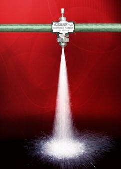 Wielkość nanoszonej cieczy można znacznie zmienić przez regulację zaworu lub ciśnienia wlotowego.