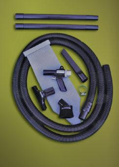 W zestawie znajdują się wymienne końcówki, co sprawia, że ręczny odkurzacz pneumatyczny sprawdzi się w wielu przypadkach