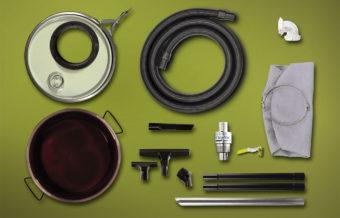 System odkurzacza pneumatycznego do wiórów bez beczki