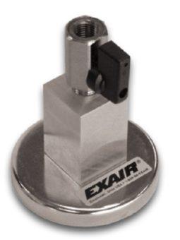 Magnetyczna baza montażowa z jednym wylotem i zaworem odcinającym