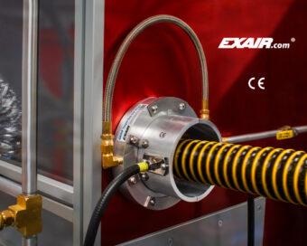 """Dysza toroidalna jonizująca """"Super"""" Gen4 jest idealna do neutralizacji ładunków elektrycznych na kablach, wężach, rurach, przewodach itp."""
