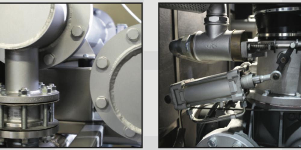 Elementy bezolejowej sprężarki śrubowej Eagle